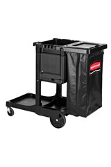 Executive Janitorial Cleaning Cart   Traditional, Black
