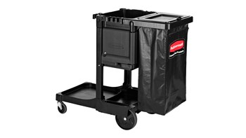 The Rubbermaid Commercial Executive Series Traditional Janitorial Cleaning Cart id constructed for superior performance and long-lasting appearance. Thoughtful design makes it easy for staff to clean quietly and discreetly, day or night.