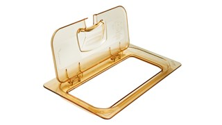 Flip lids allow of easy access to pan contents without having to remove the entire lid.  Available in both notched and solid versions.