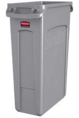 Vented Slim Jim® 23 Gal Gray
