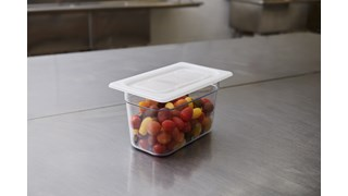 Soft sealing lids for insert pans help reduce airflow, maintaining food quality