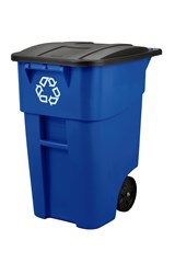 Recycle Rollout Container 50 Gal Blue