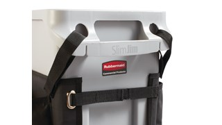 Slim Jim® Caddy Bag maximizes space efficiency by providing onboard storage for all of the supplies needed for cleaning and liner changes on-the-go.