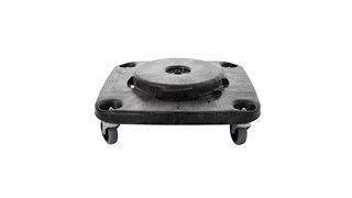The Rubbermaid Commercial Square BRUTE® Dolly is designed for use with 3526 and 3536 containers.