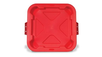 BRUTE® Square Snap Lock® Lid Red