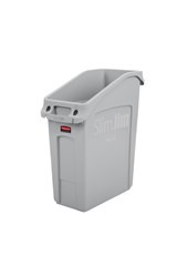 Slim Jim® 13 Gal Under Counter Container Gray