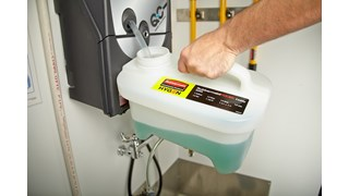 HYGEN™ PULSE™ High-Capacity Caddy allows users to easily clean up to 10,000 square feet, reducing the frequency of trips to the supply closet.