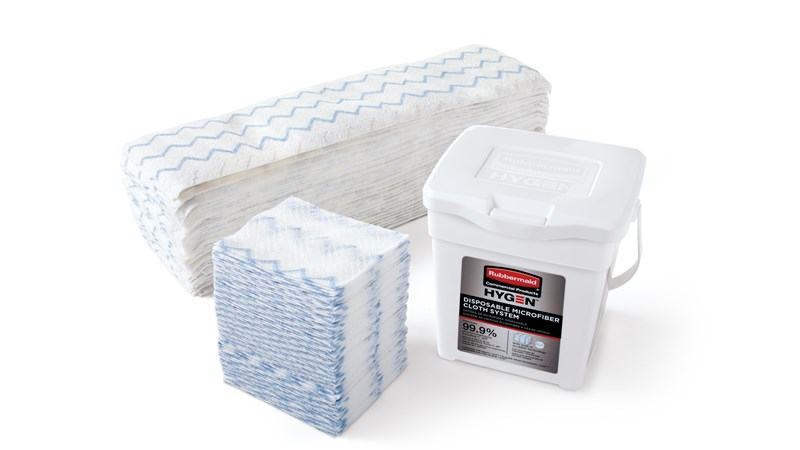 HYGEN™ Disposable Microfiber Cloth Starter Kit is the most comprehensive solution for maintaining healthy, safe environments. It combines superior microfiber with built-in scrubber technology, in a disposable application, to prevent cross-transmission and reduce the risk of healthcare-associated infections.