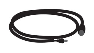 OneShot® Adapter Wire (bayonet) connects one OneShot® Lotion or Foam Counter Mounted Systems to A/C Adapter.