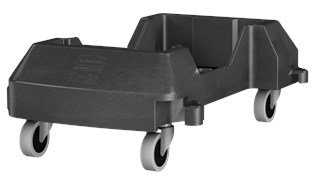 The Rubbermaid Commercial Vented Slim Jim® Resin Dolly is designed to support and transport Vented Slim Jim® containers smoothly and efficiently through any commercial facility.