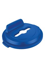 BRUTE® 32 Gal Lid Mixed Recycling Blue