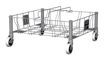 Slim Jim® Stainless Steel Double Dolly is designed to support and transport Vented Slim Jim® containers smoothly and efficiently through any commercial facility.