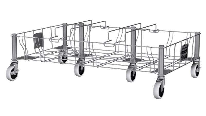 Slim Jim® Stainless Steel Triple Dolly is designed to support and transport Vented Slim Jim® containers smoothly and efficiently through any commercial facility.