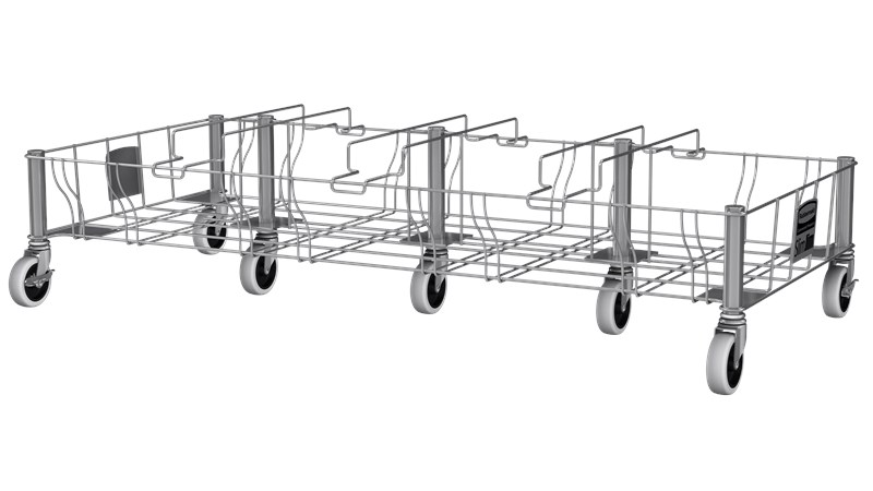 Slim Jim® Stainless Steel Quadruple Dolly is designed to support and transport Vented Slim Jim® containers smoothly and efficiently through any commercial facility.