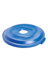 BRUTE® 32 Gal Bottles/Cans Recycling Lid Blue