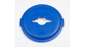 BRUTE® 32 Gal Mixed Recycling Lid Blue