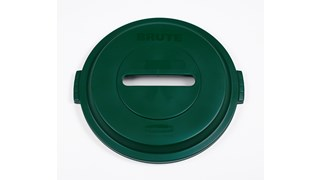 The Rubbermaid Commercial Recycling Lids for BRUTE® containers feature all-plastic, commercial-grade construction that won't rust, chip, or peel.