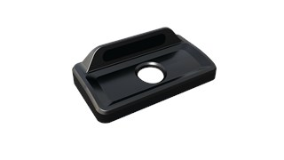 The Rubbermaid Commercial Slim Jim® recycling lids are designed to make recycling easier with consistent color-coding, lid openings and waste stream options