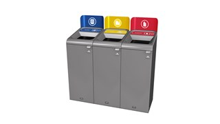 The Rubbermaid Commercial Configure™ Waste Receptacle Trash Can Sign helps increase waste management compliance.