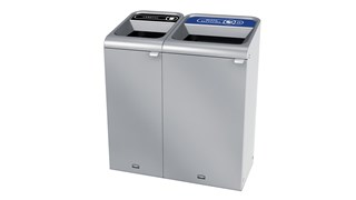 "The Configure™ Decorative Waste Containers provide a recycling solution with sleek, smooth surfaces and contoured edges. This recycling system has a modern appearance that will fit seamlessly into any indoor or outdoor commercial environment. Please note: this SKU is a Configure™ 1-Stream 23 Gallon container with a ""Mixed Recycling"" label."