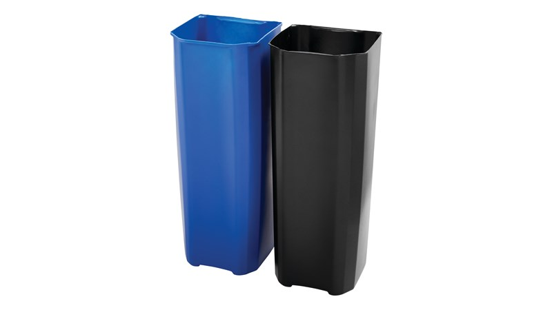 The Rubbermaid Commercial Impressions™ End Step-On Liner helps maintain the life of the Rubbermaid Commercial Impressions™ End Step-On Container (sold separately). Constructed of durable, puncture-resistant plastic, this liner features smooth contours for easy cleaning and a liner retainer band to secure liner bags.