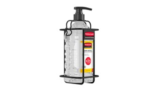 The Bracket for 64 oz. Hand Sanitizer Bottle is a dual-purpose hygiene solution that can be mounted to a wall or used with the AutoFoam Hand Sanitizer Stand for free-standing placement.