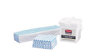 The HYGEN™ Disposable Microfiber Cloth assists in environmental cleaning, the first step in the disinfection process, by removing 99.7% or more of tested viruses and bacteria* to help improve cleaning efficacy.