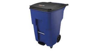 The Rubbermaid Commercial Step-On Rollouts with Casters facilitate hands-free waste disposal with the added benefit of superior mobility. Front swivel casters distribute weight evenly for enhanced maneuverability.