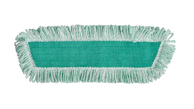 Light Commercial Microfiber Dust Pad with fringe have greater surface area for increased dust, dirt and debris removal for cleaner and healthier facilities.