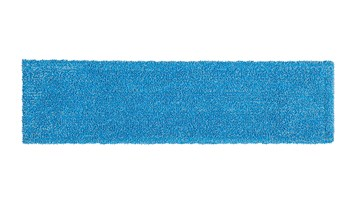 The Adaptable Flat Mop Pad helps improve cleaning efficacy and connects to the Adaptable Flat Mop Frame via tabs or pockets for two styles of microfiber mopping in large spaces.