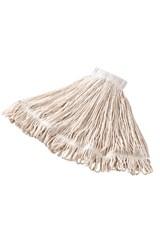 """24 OZ Super Stitch® Cotton Wet Mop, 5"""" Headband, White"""