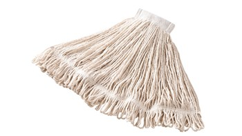 Super Stitch® Cotton Mop is an economical, general-purpose mop with a yarn tailband for improved floor coverage with each stroke.