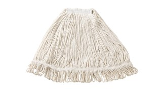 Super Stitch® Rayon Mop is an economical floor finish applicator with a yarn tailband for improved floor coverage with each stroke.
