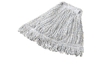 Super Stitch® Blend Mop is a floor finish applicator with a yarn tailband for improved floor coverage with each stroke.