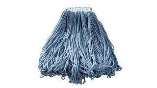 Universal Headband Blend Mop is made from cotton and synthetic thread that has almost twice the absorbency of cotton.