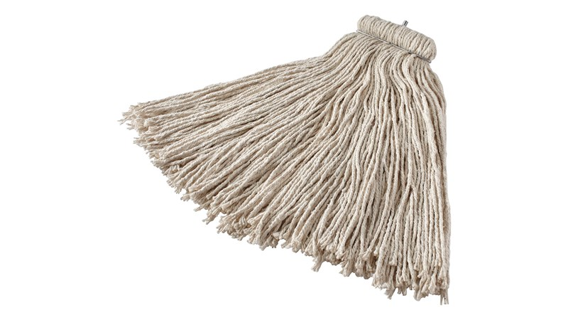 Bolt-On Cotton Mop is an economical solution for general-purpose floor cleaning or one-time use.