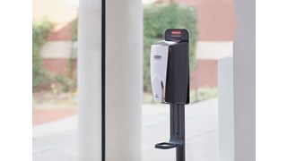 The AutoFoam Standard Floor Stand allows touch-free hand sanitizer dispensers to be mounted to a lightweight, easily movable stand to meet the changing needs of your facility.