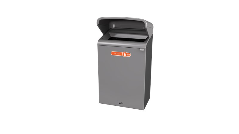 Configure™ with Rain Hood Decorative Waste Containers make it easy to recycle in any environment with recycling labels that visually display each waste stream. The rain hood offers added protection again outdoor elements, rain or shine.