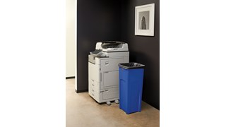 The Untouchable® Square Container is perfect for for holding large irregular objects making it ideal for use in areas near copiers, printers, and in mailrooms.