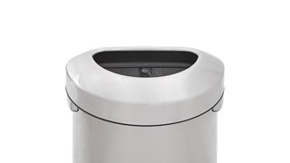 Featuring a classic design and fingerprint-resistant stainless steel, the Refine waste container fits seamlessly into any commercial space for a discreet look that enhances the overall environment.