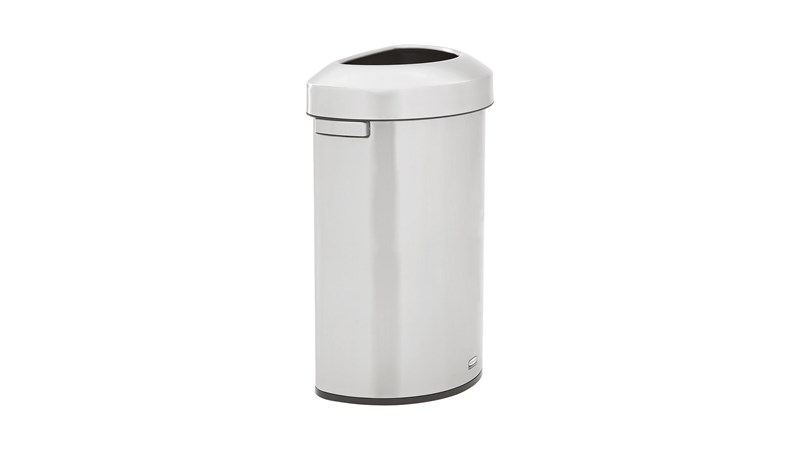 Featuring a classic design and fingerprint-resistant stainless steel, the Refine™ waste container fits seamlessly into any commercial space for a discreet look that enhances the overall environment.