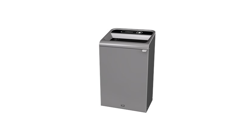"The Configure™ Decorative Waste Containers provide a recycling solution with sleek, smooth surfaces and contoured edges. This recycling system has a modern appearance that will fit seamlessly into any indoor or outdoor commercial environment. Please note: this SKU is a Configure™ 1-Stream 33 Gallon container with a ""Landfill"" label."