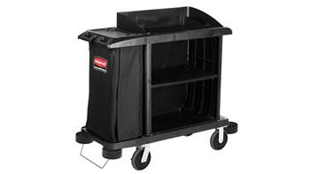 Executive Compact Housekeeping Cart – Traditional, Black