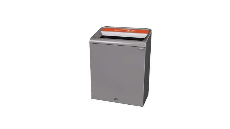 "The Configure™ Decorative Waste Containers provide a recycling solution with sleek, smooth surfaces and contoured edges. This recycling system has a modern appearance that will fit seamlessly into any indoor or outdoor commercial environment. Please note: this SKU is a Configure™ 1-Stream 45 Gallon container with a ""Glass"" label."