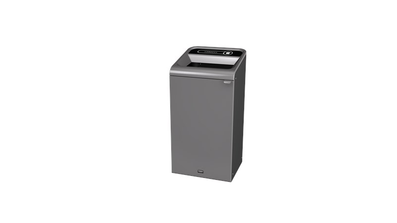 "The Configure™ Decorative Waste Containers provide a recycling solution with sleek, smooth surfaces and contoured edges. This recycling system has a modern appearance that will fit seamlessly into any indoor or outdoor commercial environment. Please note: this SKU is a Configure™ 1-Stream 23 Gallon container with a ""Landfill"" label."