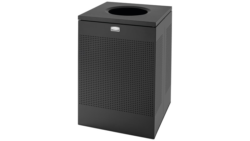 The sleek Silhouettes 50 Gallon FGSC22 Decorative Square Indoor Waste Container has a contemporary perforated pattern designed to seamlessly and beautifully blend with modern facilities and environments. High-quality materials and craftsmanship ensure containers can withstand the rigors of everyday use.