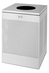 Silhouettes Square Open Top 40 Gal Stainless Steel