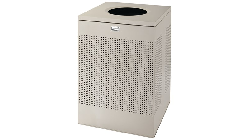 The sleek Silhouettes 40 Gallon FGSC22 Decorative Square Indoor Waste Container has a contemporary perforated pattern designed to seamlessly and beautifully blend with modern facilities and environments. High-quality materials and craftsmanship ensure containers can withstand the rigors of everyday use.