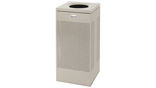 The sleek Silhouettes 24 Gallon FGSC14 Decorative Square Indoor Waste Container has a contemporary perforated pattern designed to seamlessly and beautifully blend with modern facilities and environments. High-quality materials and craftsmanship ensure containers can withstand the rigors of everyday use.