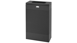 The sleek Silhouettes 13 Gallon FGSR14 Decorative Rectangle Indoor Waste Container has a contemporary perforated pattern designed to seamlessly and beautifully blend with modern facilities and environments. High-quality materials and craftsmanship ensure containers can withstand the rigors of everyday use.